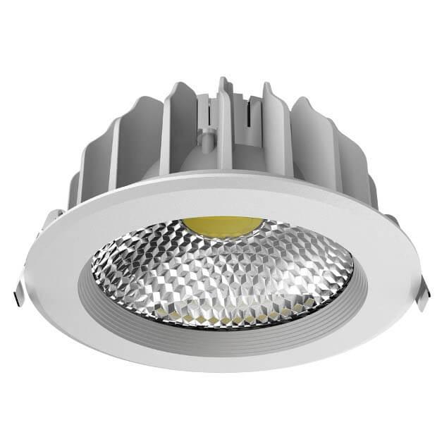 Светильник светодиодный встраиваемый ULT-D03G-30W/DW SILVER