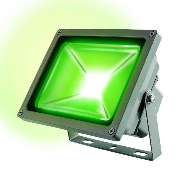 Прожектор светодиодный ULF-S01-30W/GREEN IP65 110-240В