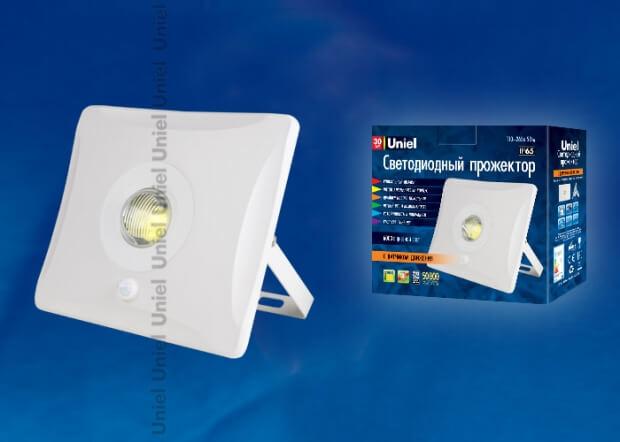 ULF-F31-30W/DW SENSOR IP65 100-265В WHITE картон