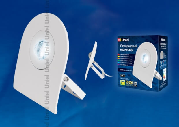 ULF-F10-30W/DW IP65 180-240В WHITE картон