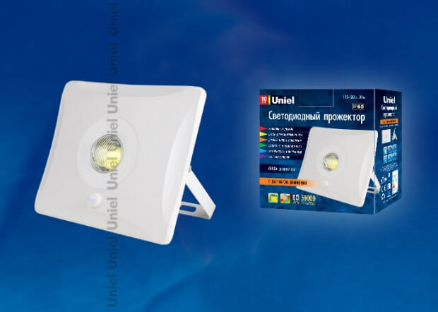 ULF-F31-10W/DW SENSOR IP65 100-265В WHITE картон