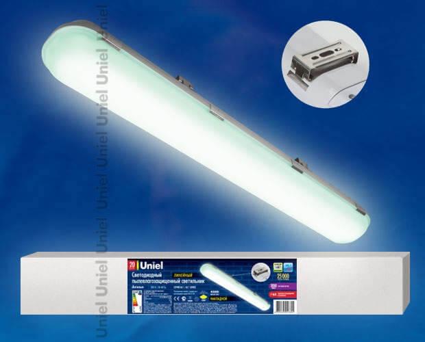 Светильник светодиодный линейный накладной пылевлагозащищенный «Ангилья» ULT-V16-60W/DW IP65 SILVER
