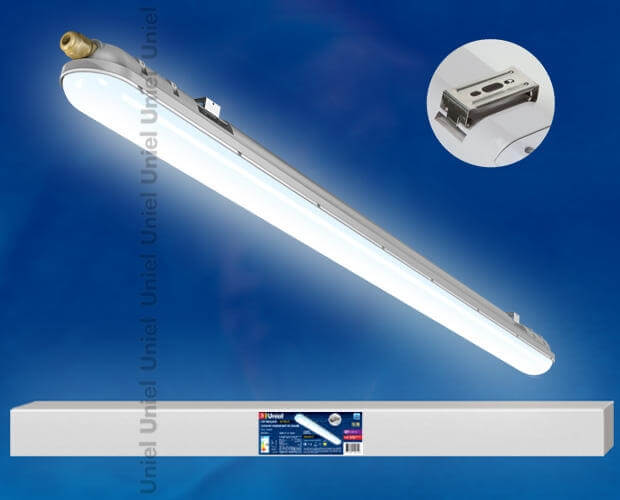 Светильник светодиодный линейный накладной «Ангилья». Белый свет. Корпус серый. ULT-V15-36W/NW IP65 GREY