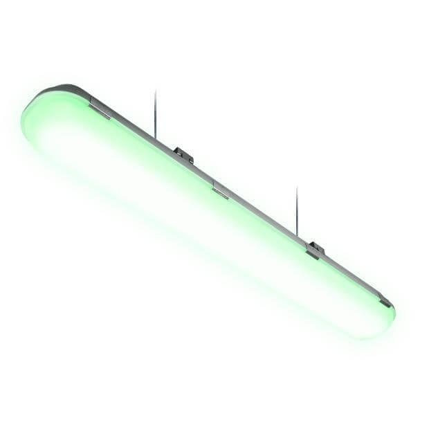 Светильник светодиодный линейный подвесной пылевлагозащищенный «Ангилья» ULT-V16-40W/DW/HM IP65 SILVER