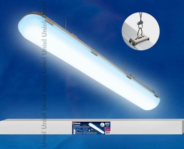 Светильник светодиодный линейный подвесной пылевлагозащищенный «Ангилья» ULT-V16-70W/DW/HM IP65 SILVER