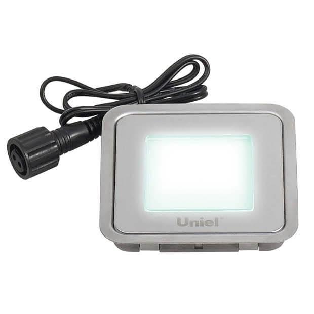 Комплект светильников светодиодных встраиваемых ULE-S06-0,5W/NW IP67 SILVER с ИП