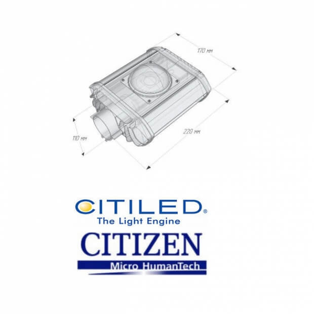 Консольный светодиодный светильник HL STR 6320 53 220x170 5000K