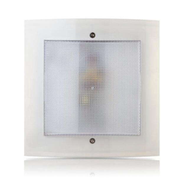 Светильник светодиодный домовой ДБП Аргос энергосберегающий, антивандальный ЭКОНОМ-ЖКХ с датчиком 4000K 6 Вт 172,5х172,5х47мм