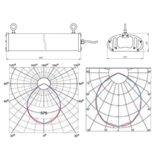 Промышленный светодиодный светильник A-PROM LENS 60/7500