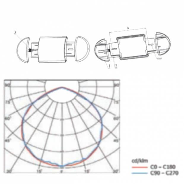 Светодиодный светильник для ЖКХ A-JKH 20/2000 с ОА датчиком