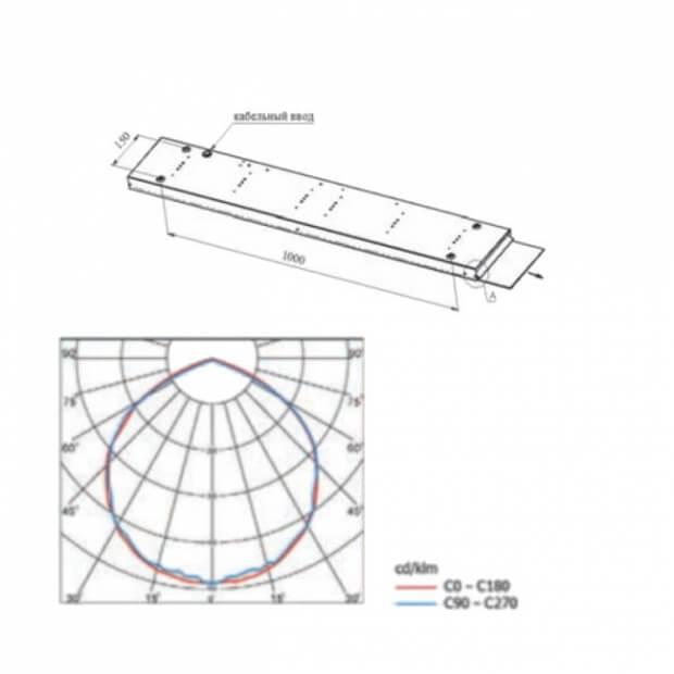 Потолочный светодиодный светильник A-Office Line 40/4100/5К