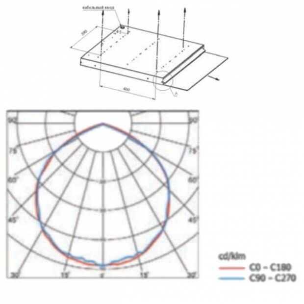 Офисный светодиодный светильник A-Griliato 40/4300/4К