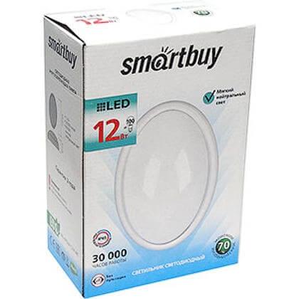 Cветодиодный (LED) светильник HP Smartbuy Овал 12W/4000K/IP65 SENSOR