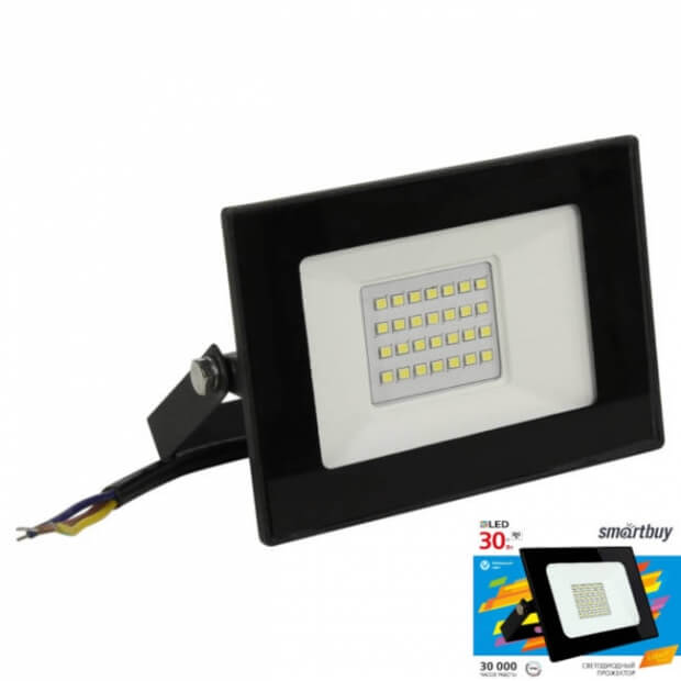 Светодиодный (LED) прожектор FL SMD LIGHT Smartbuy-30W/6500K/IP65 (SBL-FLLight-30-65K)
