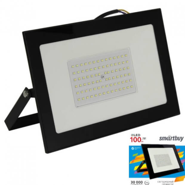 Светодиодный (LED) прожектор FL SMD LIGHT Smartbuy-100W/6500K/IP65 (SBL-FLLight-100-65K)