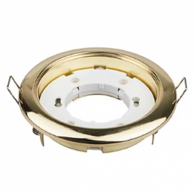 Светильник встраиваемый GX53R-RG-mini ультратонкий металл под лампу GX53 230В золото IN HOME