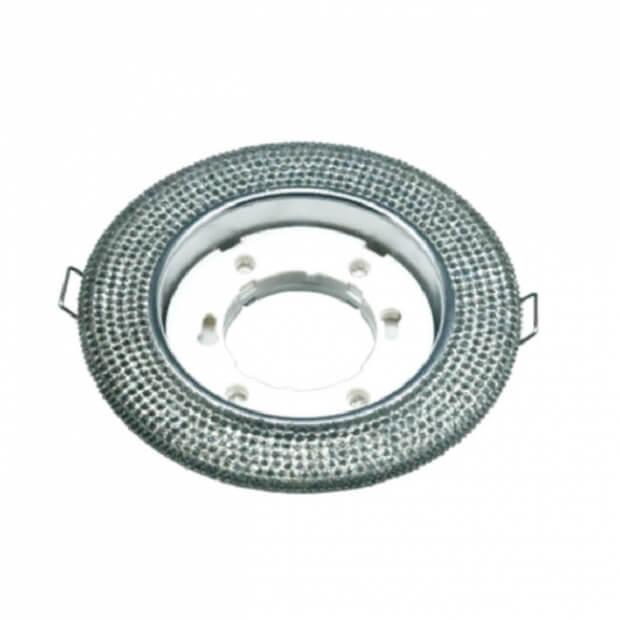 Светильник встраиваемый GX53R-R12L-crystal под лампу GX53 с подсветкой Прозрачный/ Хром IN HOME