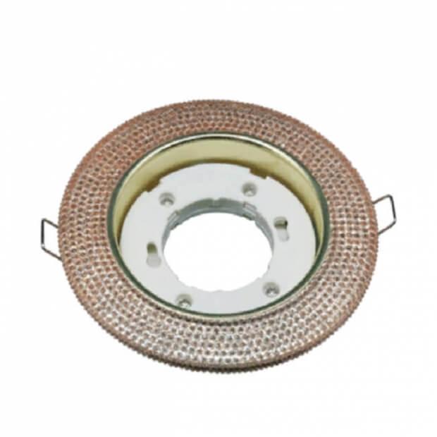 Светильник встраиваемый GX53R-R43L-crystal под лампу GX53 с подсветкой Светло-Золотистый/ Золото IN HOME