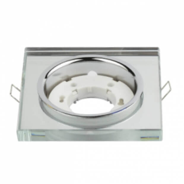 Светильник встраиваемый GX53R-SMT-glass под лампу GX53 квадрат стекло матовый IN HOME