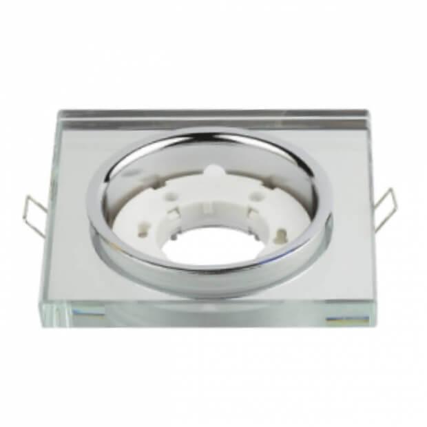 Светильник встраиваемый GX53R-SMR-glass под лампу GX53 квадрат стекло зеркальный IN HOME