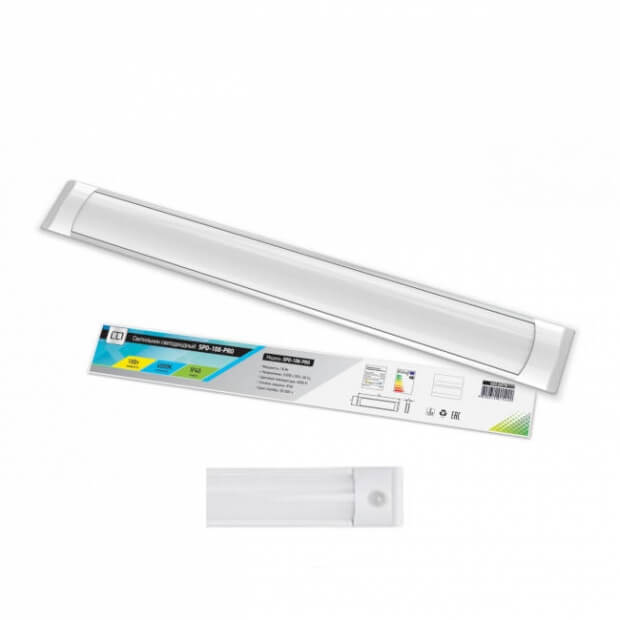 Светильник светодиодный SPO-108Д-PRO 18Вт 230В 6500К 1300Лм 600мм с датчиком движения IP40 LLT