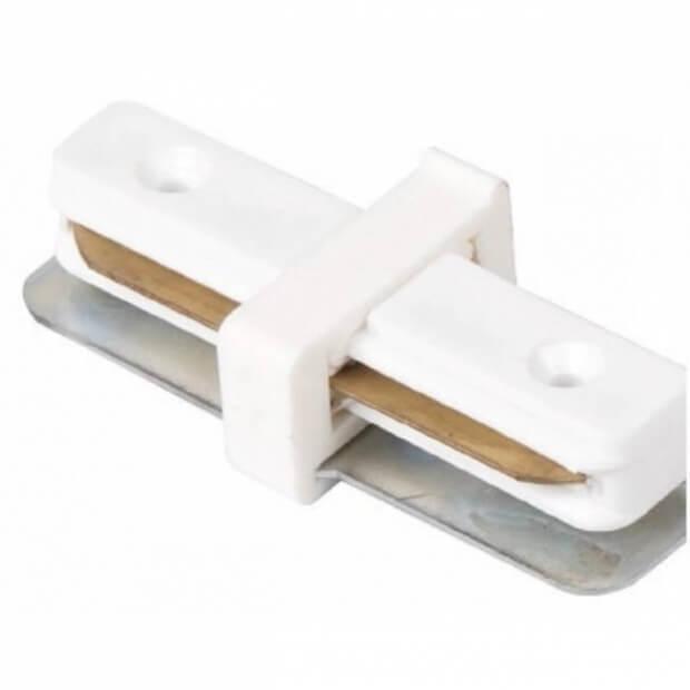 Коннектор для трекового светильника SC-1 прямой белый LLT