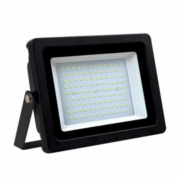 Прожектор СДО-07-100 светодиодный черный IP65 ASD