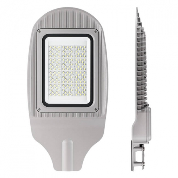 Уличный светодиодный светильник 150W 18000Lm STL-150W01 IP65,  5000-5500 К, алюминий, линза