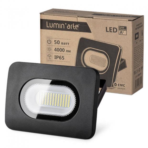 Светодиодный прожектор 4250Lm LFL-50W/05, 5500K, 50W SMD, IP 65, цвет серый, слим