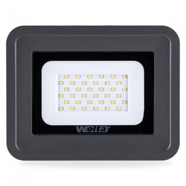 Светодиодный прожектор 2550Lm WFL-30W/06, 5500K, 30W SMD, IP 65, цвет серый, слим