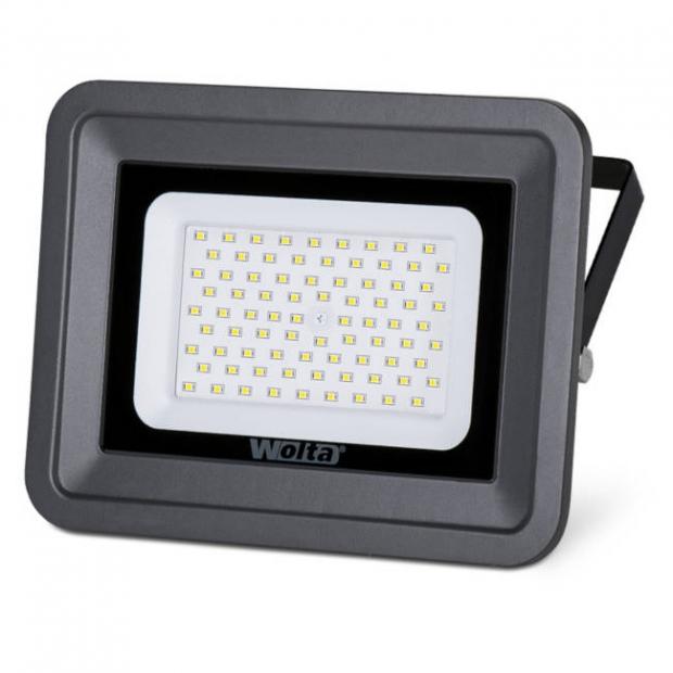 Светодиодный прожектор 6000Lm WFL-70W/06, 5500K, 70W SMD, IP 65, цвет серый, слим