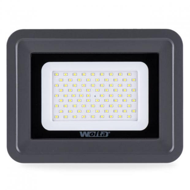 Светодиодный прожектор 8500Lm WFL-100W/06, 5500K, 100W SMD, IP 65, цвет серый, слим