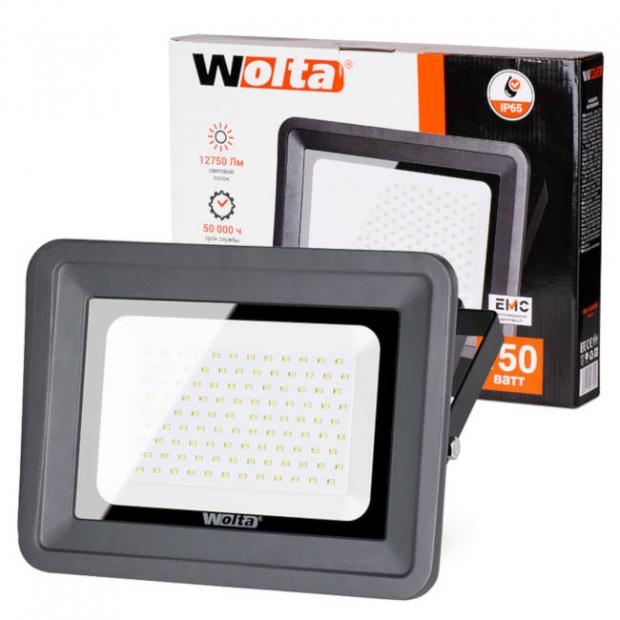 Светодиодный прожектор 12750Lm WFL-150W/06, 5500K, 150W SMD, IP 65, цвет серый, слим