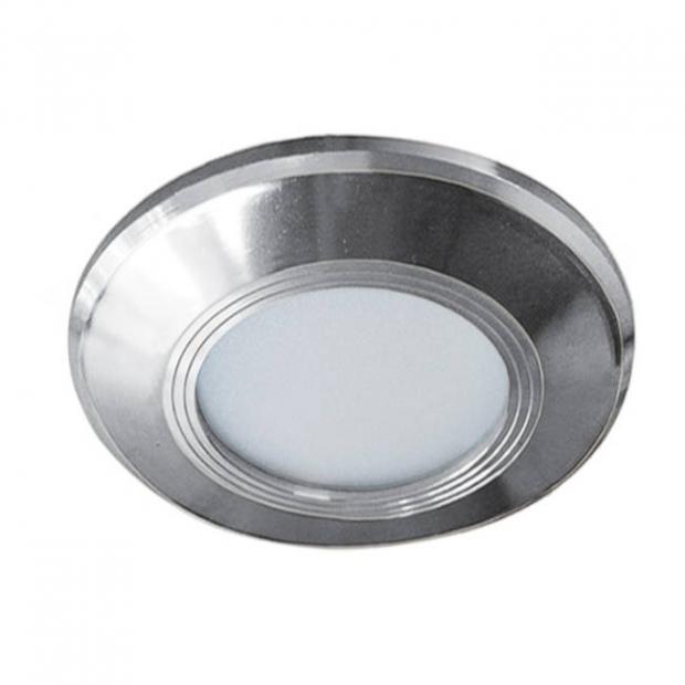 Светильник встраиваемый smd led хром 85*20