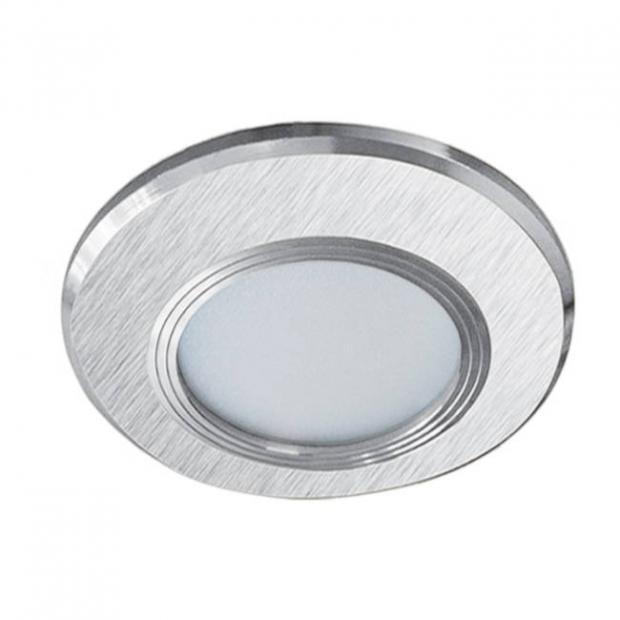 Светильник встраиваемый smd led никель 89*20
