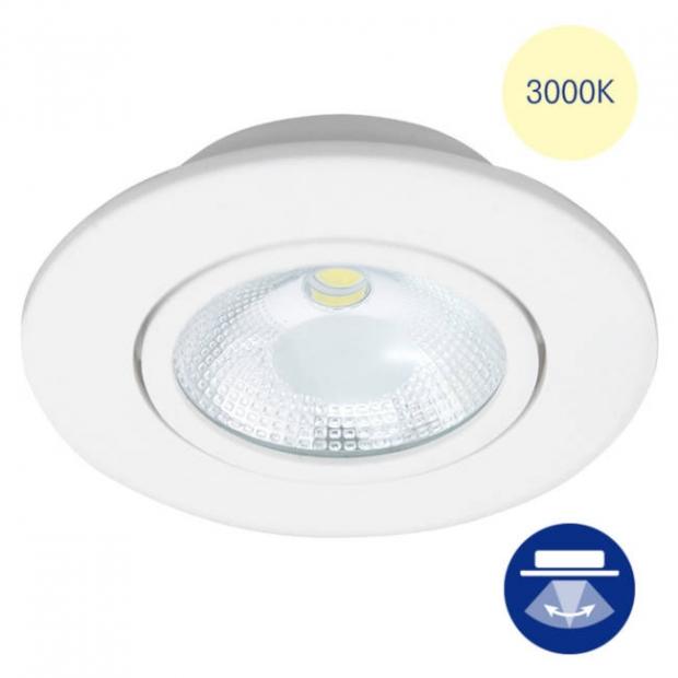 Светильник встраиваемый smd led белый, поворотный 85*38 круг, 3000К