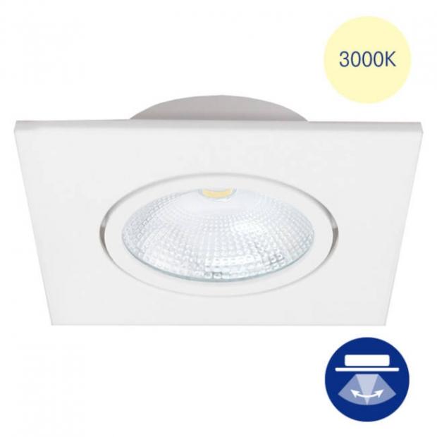 Светильник встраиваемый smd led белый, поворотный 85*38 квадрат, 3000К