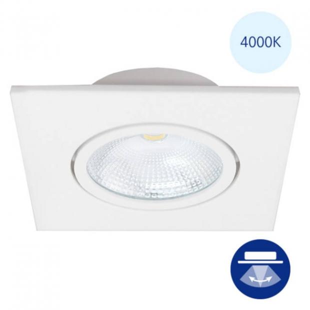 Светильник встраиваемый smd led белый, поворотный 85*38 квадрат, 4000К