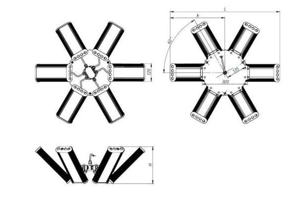 Светильник «HIGH BAY», 540Вт, КСС (К 15°, К 30°, Г 60°)