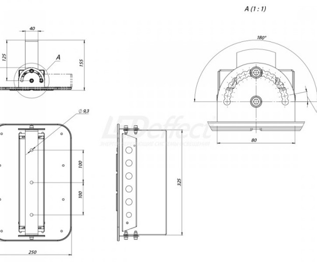 КЕDR 2.0 СБУ 50 Вт с оптикой КСС тип «Г»